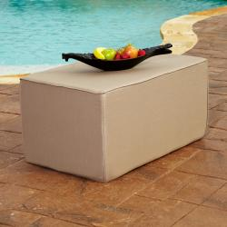Brooklyn Taupe 36 x 22-inch Indoor/ Outdoor Sunbrella Ottoman