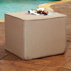 Brooklyn Taupe 30-inch Square Indoor/ Outdoor Sunbrella Ottoman