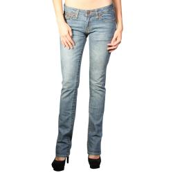 Laguna Beach Women's 'Crystal Cove' Medium Blue Slim Fit Jeans