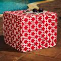 Brooklyn Red Link 22-inch Square Indoor/ Outdoor Ottoman