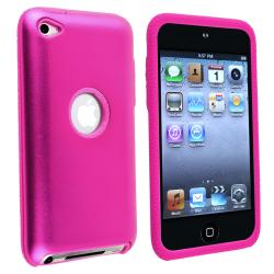 Pink Skin/ Pink Aluminum Hybrid Case for Apple iPod Touch Generation 4