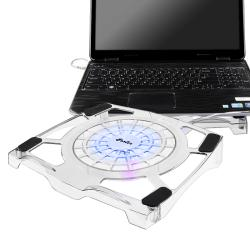 Transparent with Blue LED Light Version 2 Notebook Cooling Fan