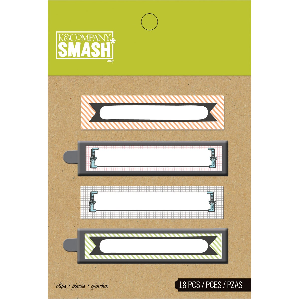 K & COMPANY Binder SMASH Clips-18/Pkg at Sears.com