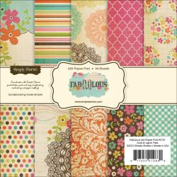 Fab-U-Lous Paper Pad 6X6in 36/Sheets