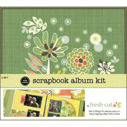 S.E.I. Assorted One Hour Scrapbook Album Kit - Fresh Cut (12 inches Square)