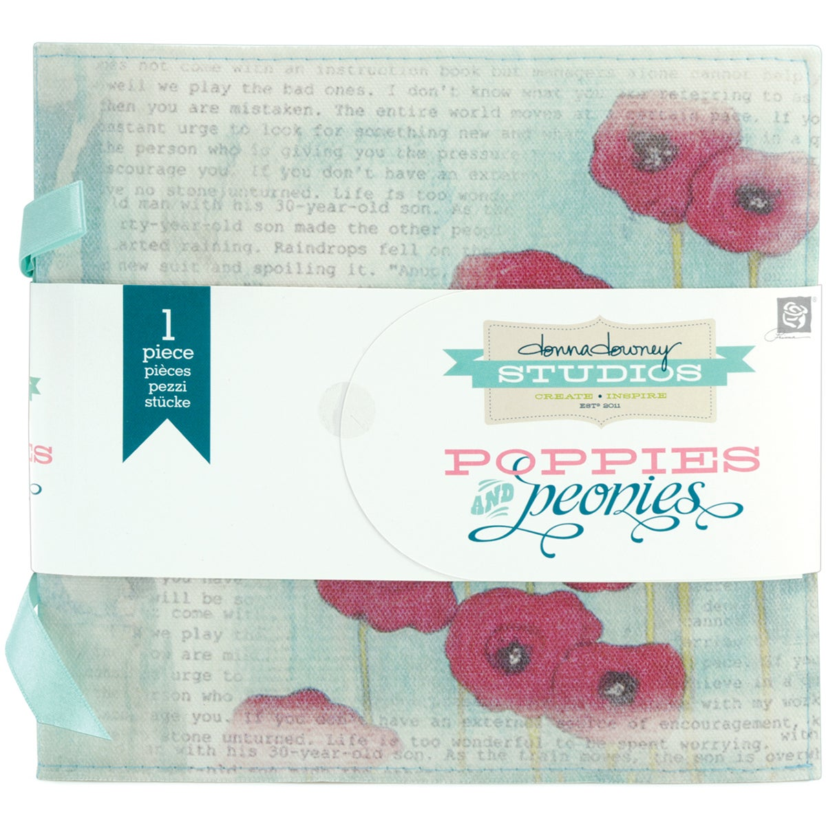 Poppies & Peonies Canvas Album -Poppy & Script