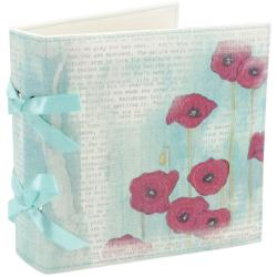Poppies & Peonies Canvas Album -Poppy & Script