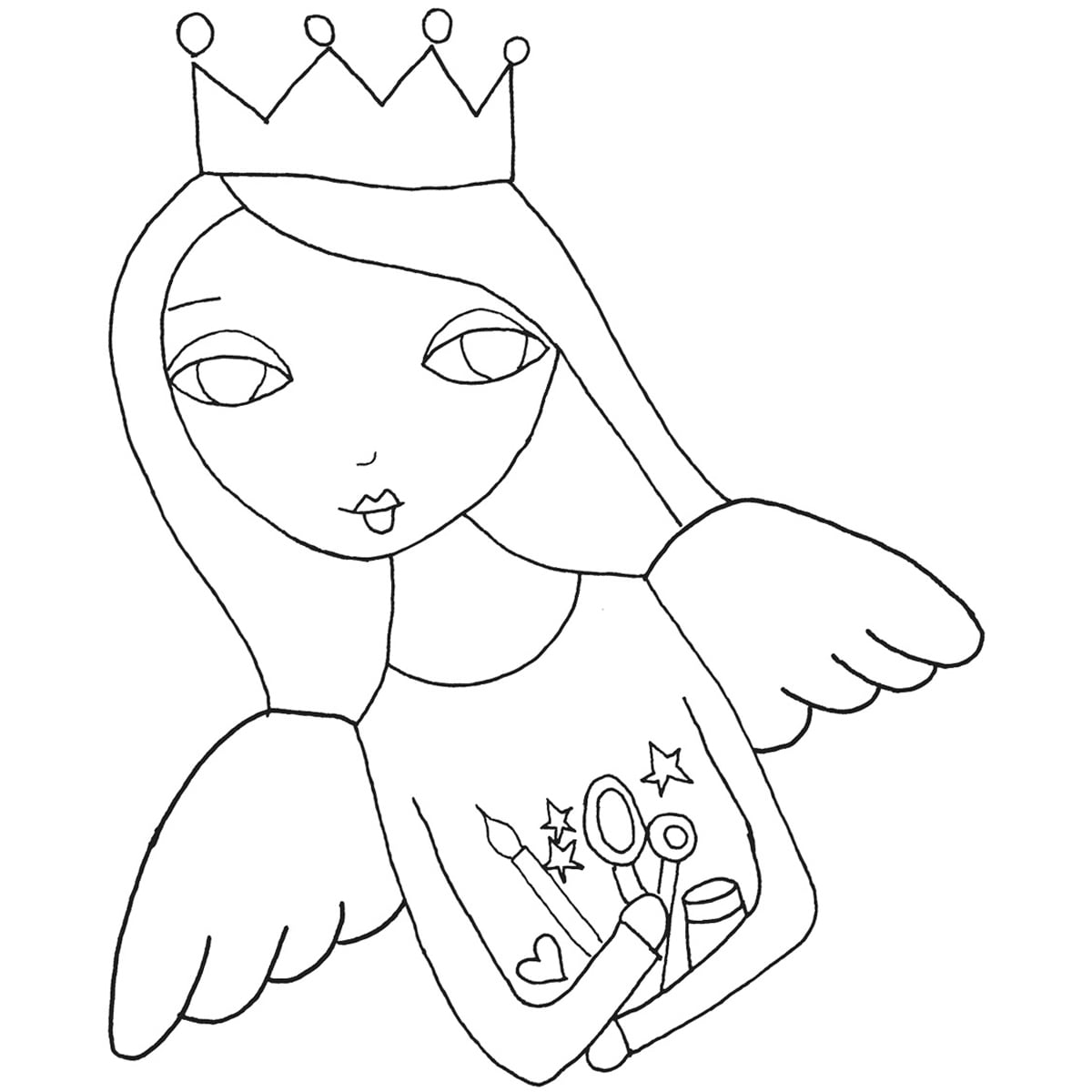 Stampavie Suzi Blu Clear Stamp-Angel Of Art