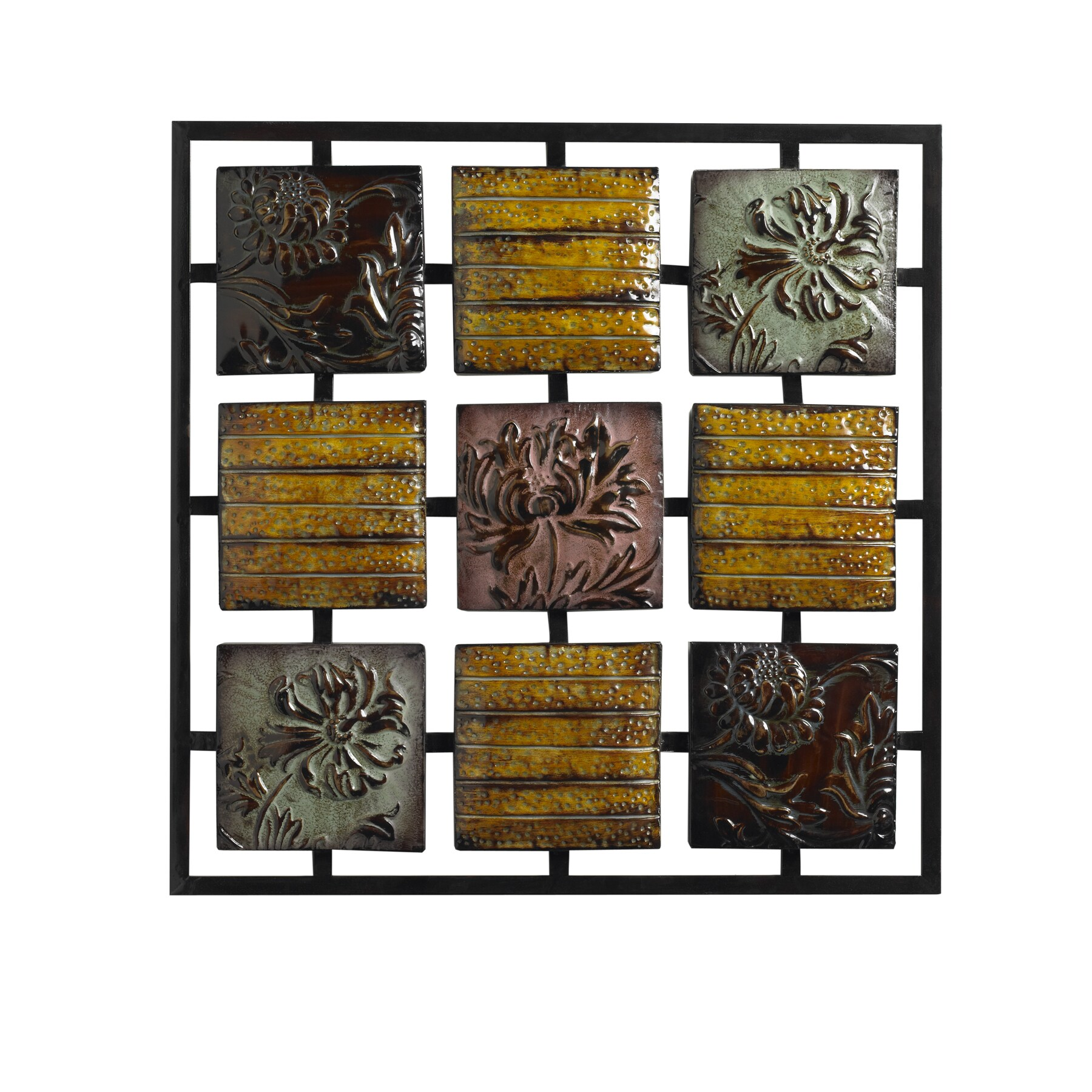 31-inch Majolica 9-panel Wall Decor