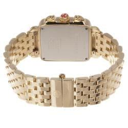 Michele Women's 'Deco' 18k Gold-plated Diamond Watch