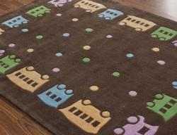 nuLOOM Handmade Deco Kids Train Rug (5' x 7')