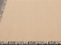 Handmade Alexa Eco Natural Fiber Cotton Zebra Jute Rug (8' x 10')