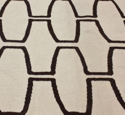 nuLOOM Handmade Luna Flatweave Moroccan Trellis Natural Wool Rug (5' x 8')