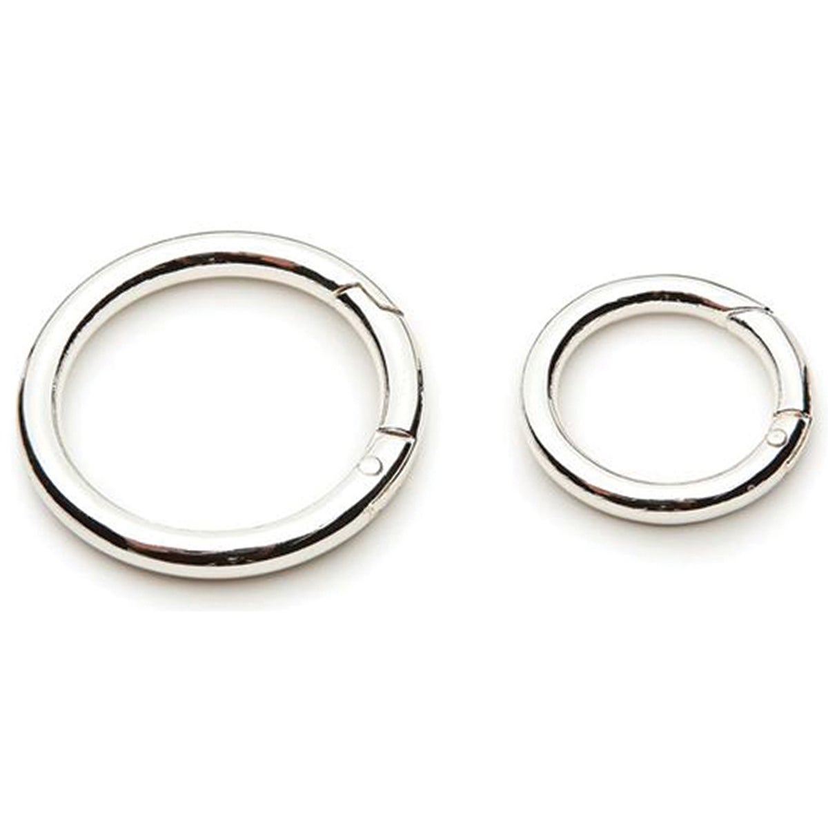Accessory Loops Clasps-Silver Circle 2/Pkg