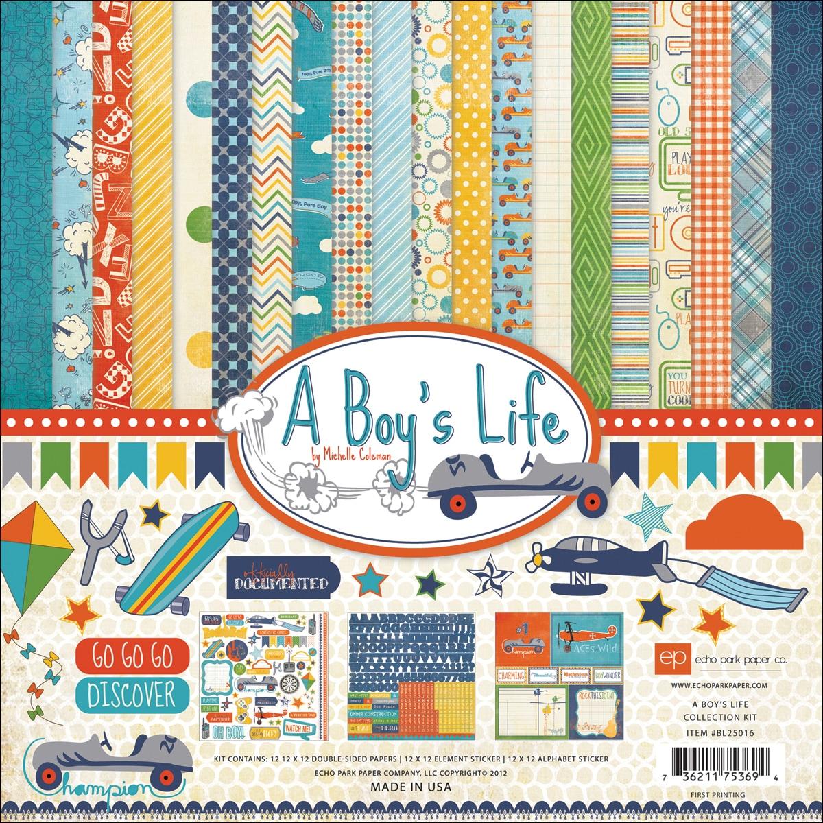 "A Boys Life Collection Kit 12""X12"""