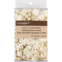 Celebrate It Handmade Paper Flower Confetti 225/Pkg-Cream