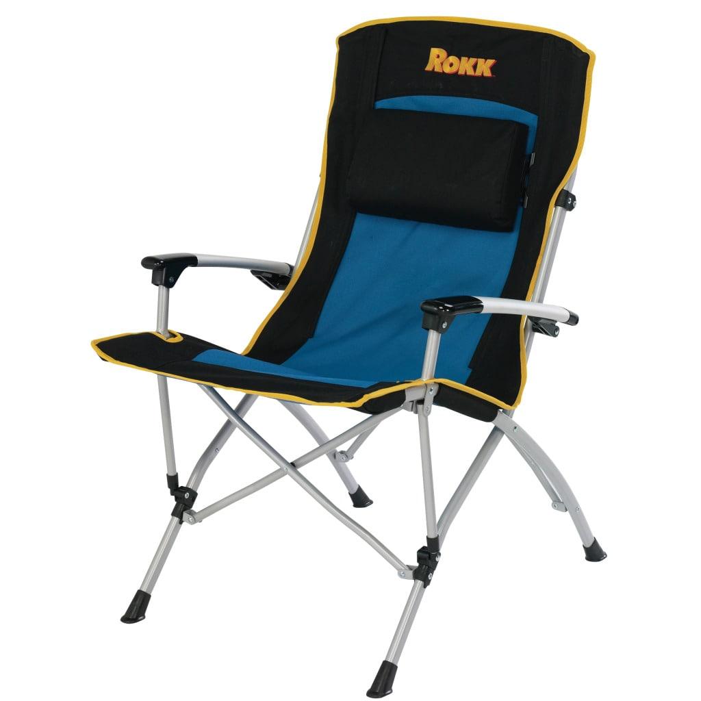 Rokk Comfort Adjust Hard Arm Camping Chair