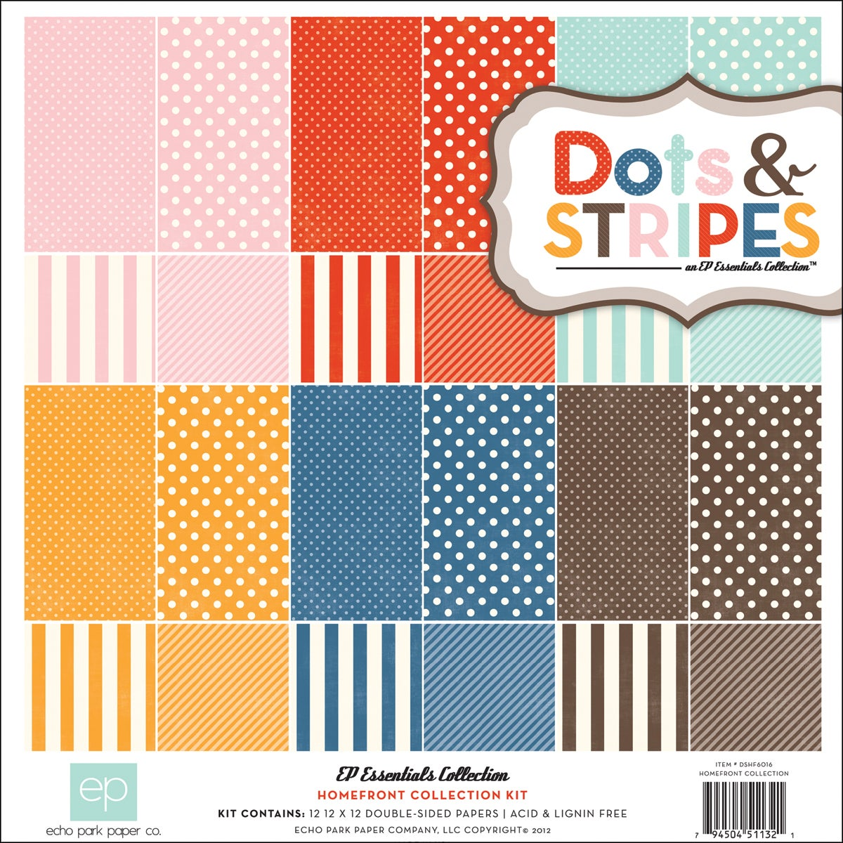 """Dots & Stripes 2 Homefront Collection Kit 12""""X12"""""""