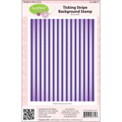 JustRite Stampers Cling Background Stamp-Ticking Stripe