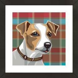 Vintage 'Jack Russell Terrier' Gallery Framed Giclee Print