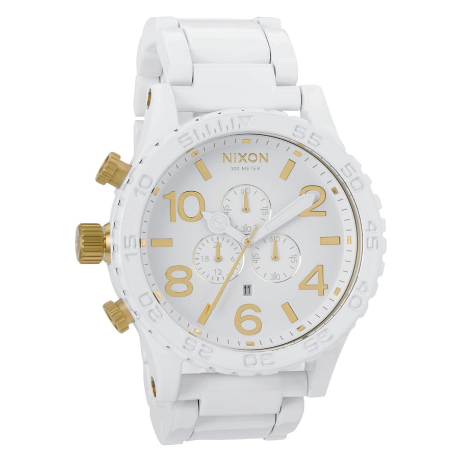 Nixon Men's '51-30' White Stainless Steel Chronograph Watch