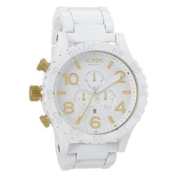 Nixon Men's '51-30' White Stainless Steel Chronograph Watch