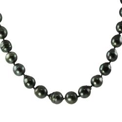 Pearls For You 14k White Gold Tahitian Pearl Necklace (10-11 mm)