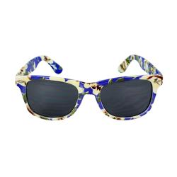Women's Blue Floral Sunglasses