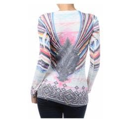 Tabeez Women's Mystic Rhinestone Sublimation Top