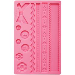Fondant And Gum Paste Silicone Mold-Fabric