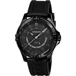 Wenger Men's Squadron GMT Black Dial Watch