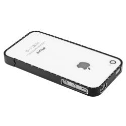 INSTEN Black Bling Metal Bumper for Apple iPhone 4/ 4S