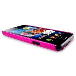 Pink Glossy Snap-on Rubber Coated Case for Samsung Galaxy S II i9100