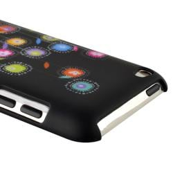 Black Snap-on Rubber Coated Case for Apple iPod Touch Generation 4