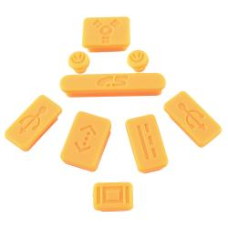 Orange Anti-Dust Silicone Plug Cap for Apple MacBook Pro (Set of 9)