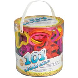 Plastic Cookie Cutters 101/Pkg-Assorted Shapes, Numbers, Alphabet