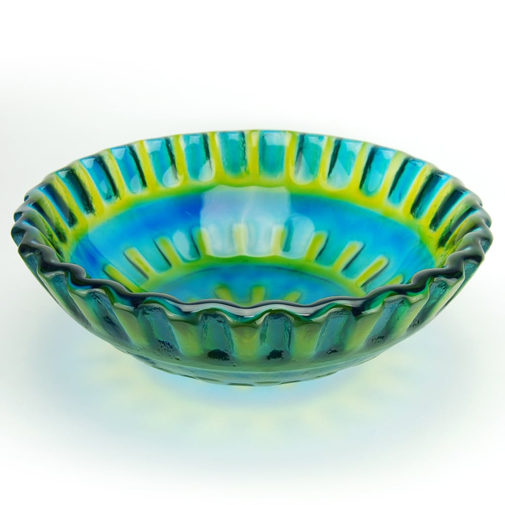 Fontaine Blue Glass Vessel Sink