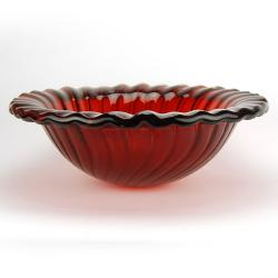 Fontaine Cherry Punch Glass Vessel Sink