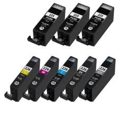 Canon PGI 225Bk CLI 226 Compatible Black / Color Ink Cartridges (Pack of 8)