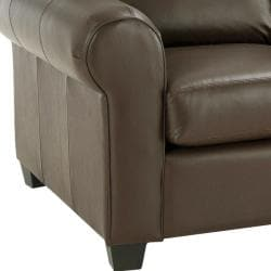 Monroe Brown Italian Leather Sofa/ Loveseat Set