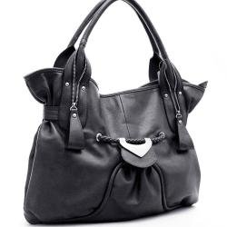 Dasein Zipper Detail Shoulder Bag