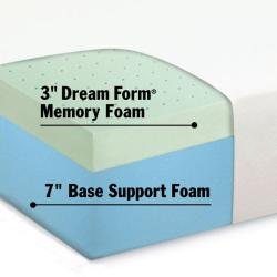 Dream Form Green Tea 10-inch Cal King-size Memory Foam Mattress