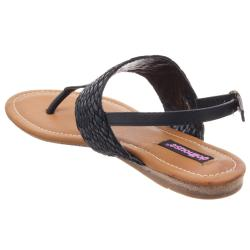 Riverberry Women's 'Santi' Black Woven Sandals