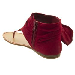 Riverberry Women's 'Steno' Red Micro-suede Sandals