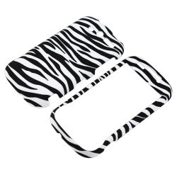 BasAcc White/ Black Zebra Snap-on Case for HTC myTouch 4G