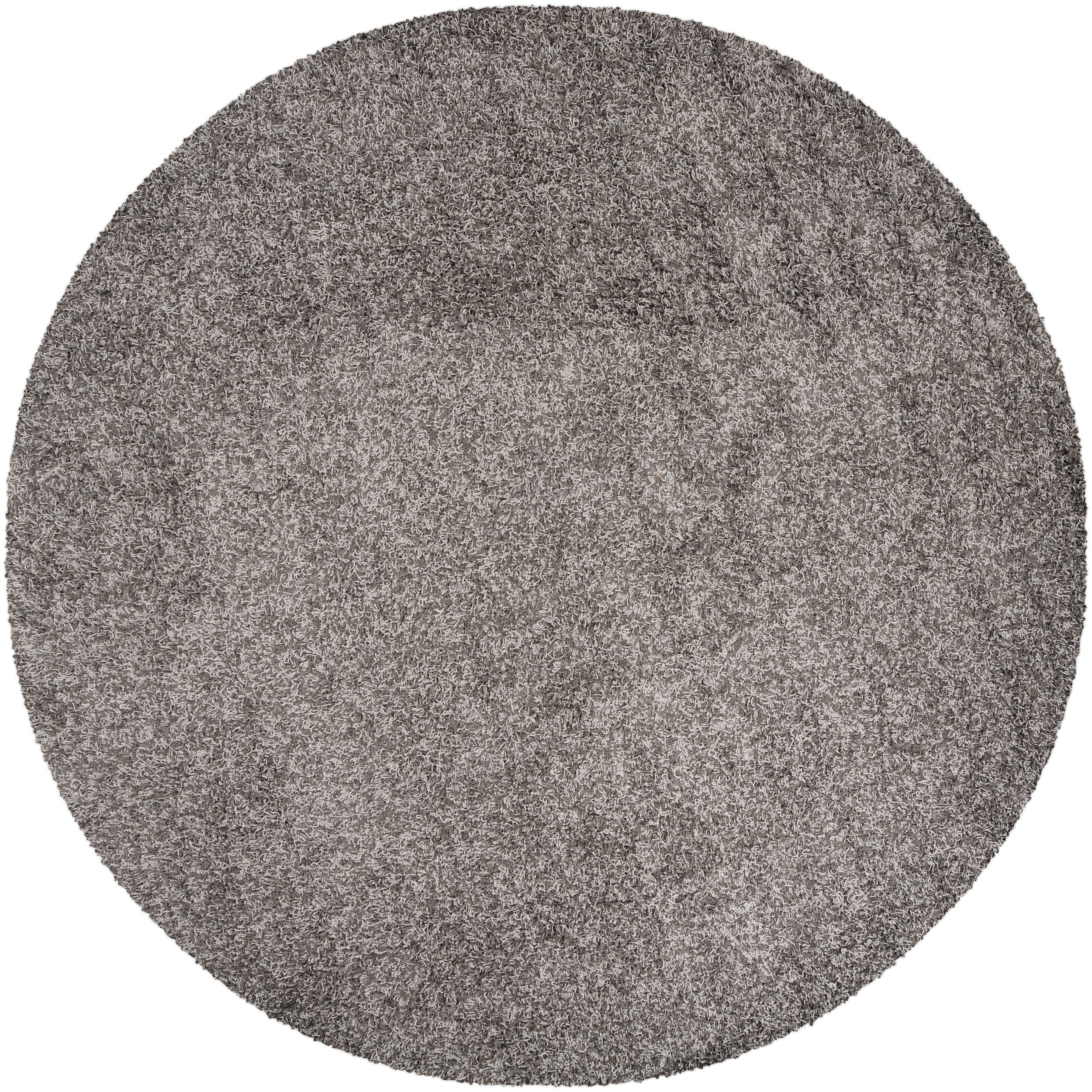 Woven Gray Idealy Plush Shag (4' Round)
