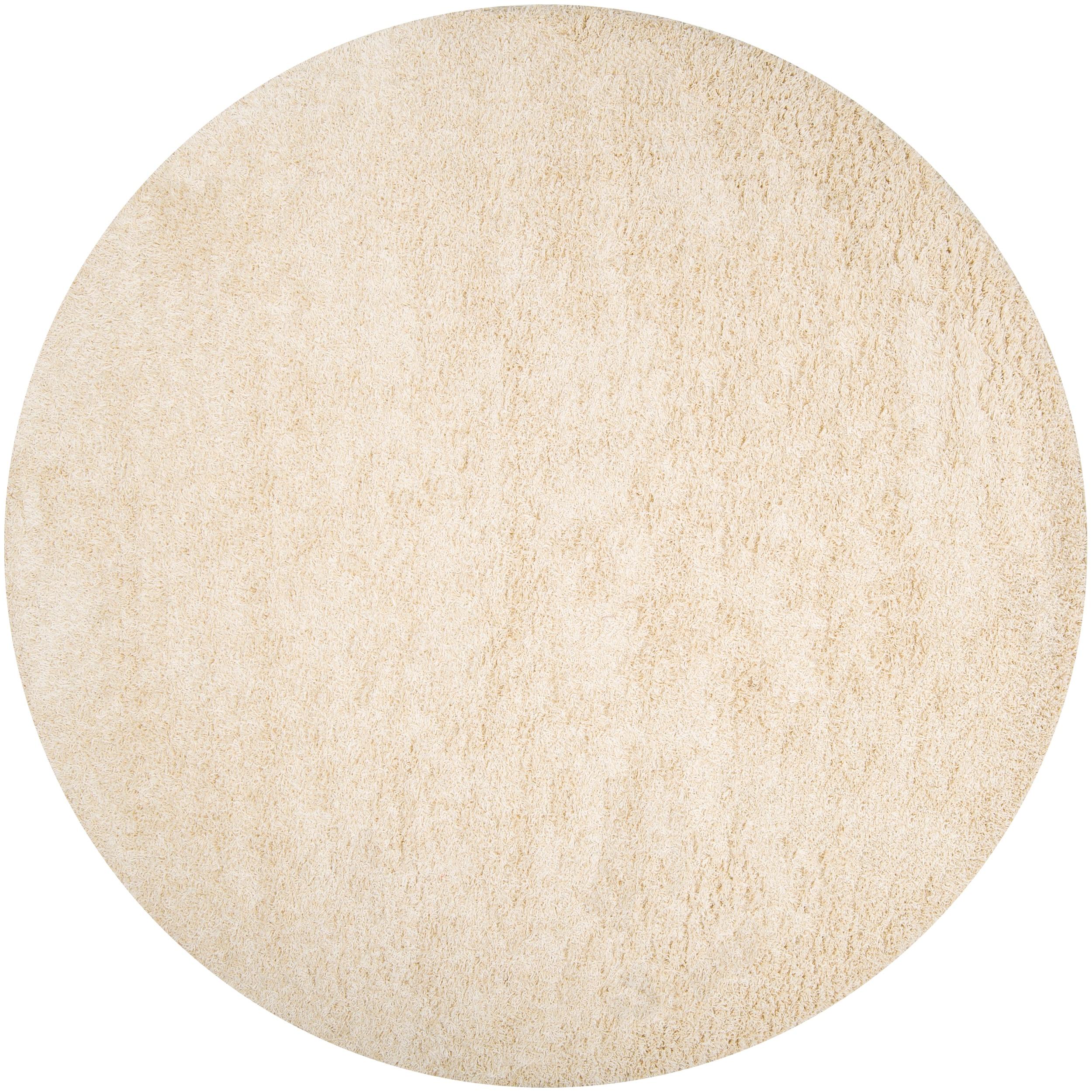 Woven Ivory Debacle Plush Shag (8' Round)