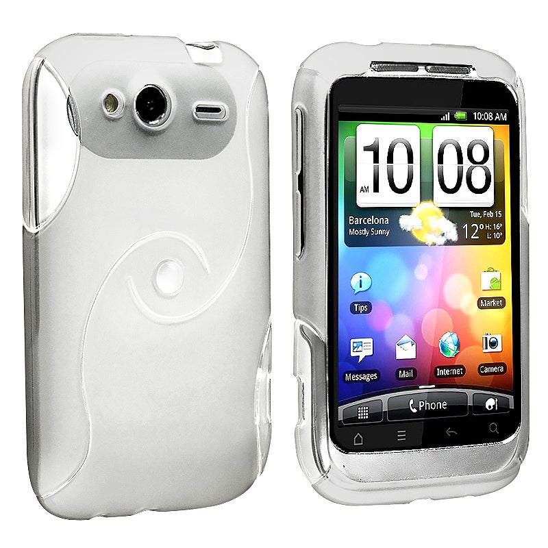 BasAcc Frost White S Shape TPU Rubber Skin Case for HTC Wildfire S