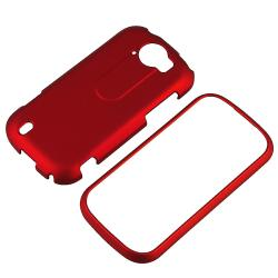 BasAcc Red Rubber Coated Case for HTC T-Mobile myTouch 4G Slide