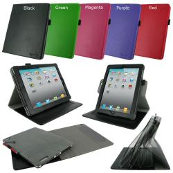 roocase Dual-Axis Leather Case Cover for The new iPad 3/ iPad 2